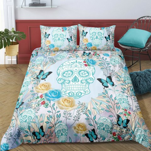 Image of D9 Skull Bedding Set