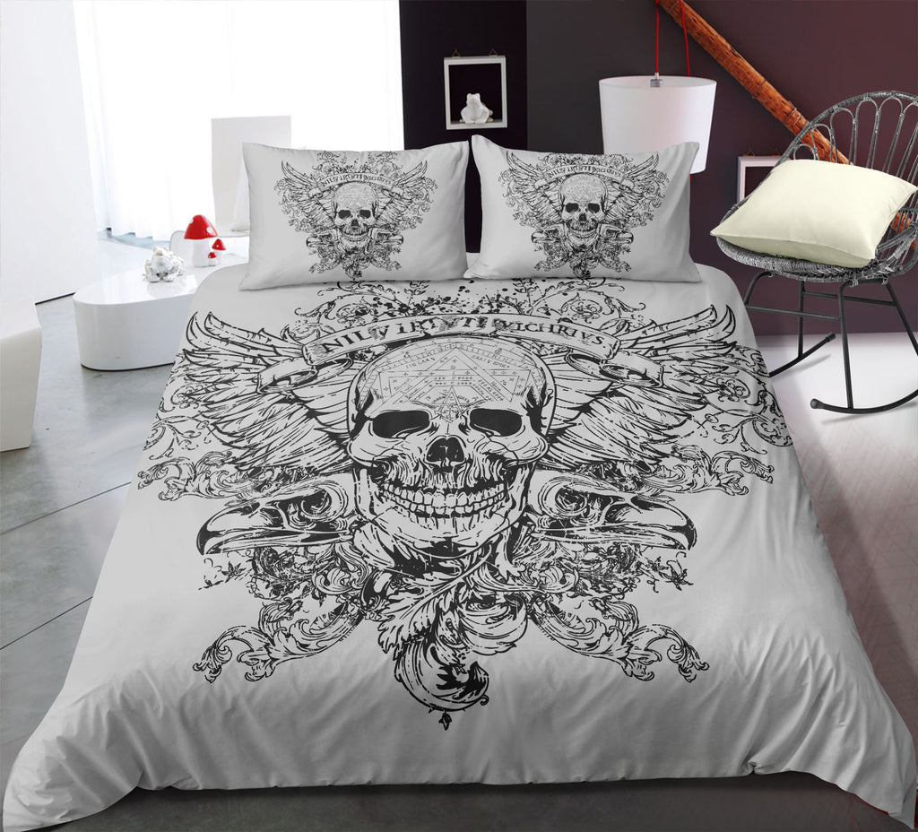 E9 Skull Bedding Set