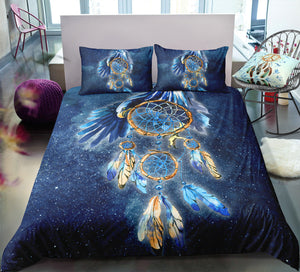 Blue Eagle Dreamcatcher Bedding Set - Beddingify
