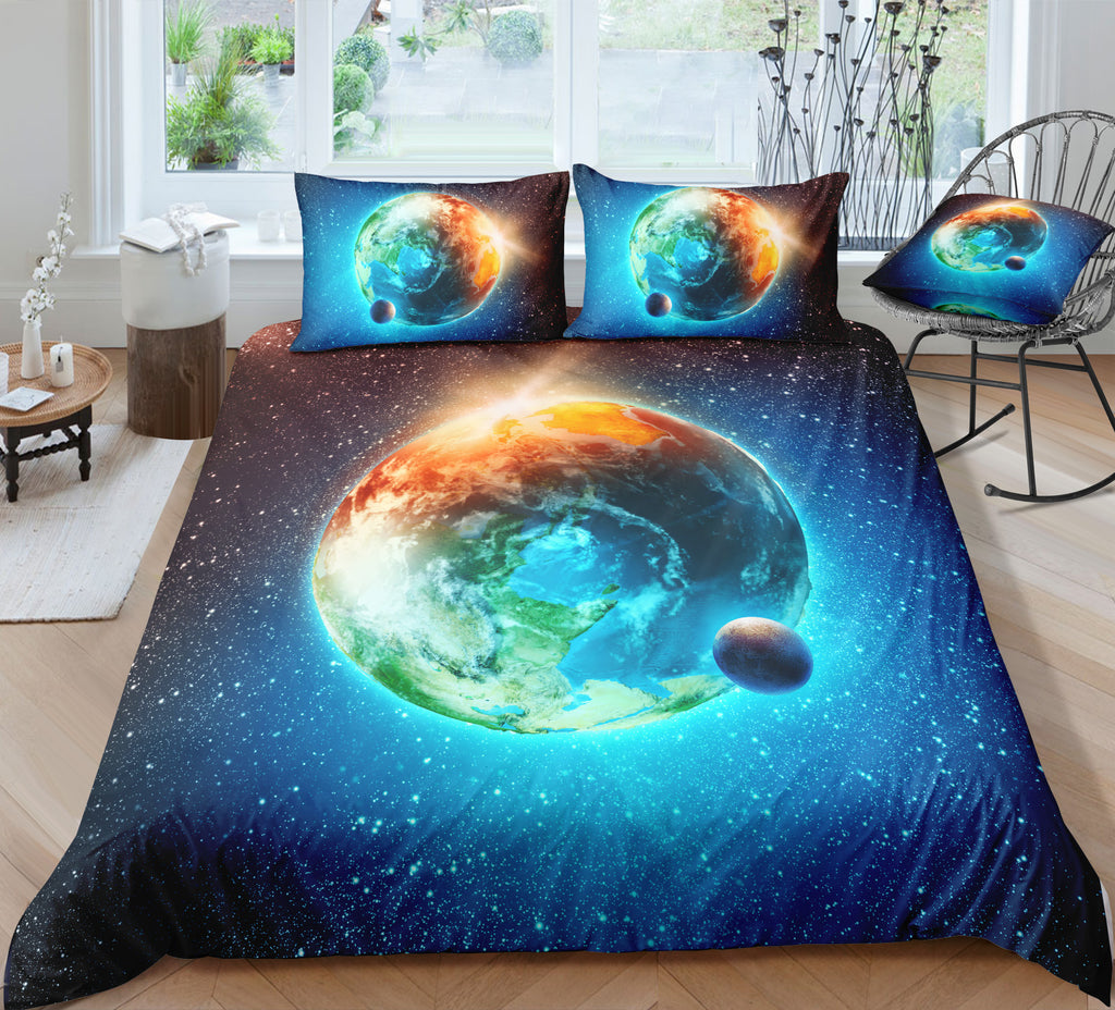 Earth and Moon Bedding Set - Beddingify