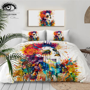 Colorful Flora by Pixie Cold Art Bedding Set - Beddingify