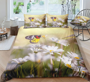 Flowers and Butterflies Bedding Set - Beddingify