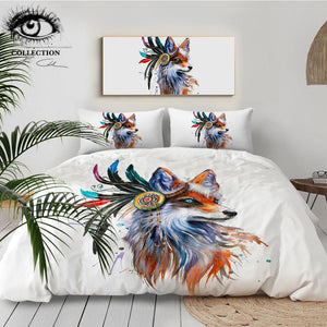 Fox by Pixie Cold Art Bedding Set - Beddingify