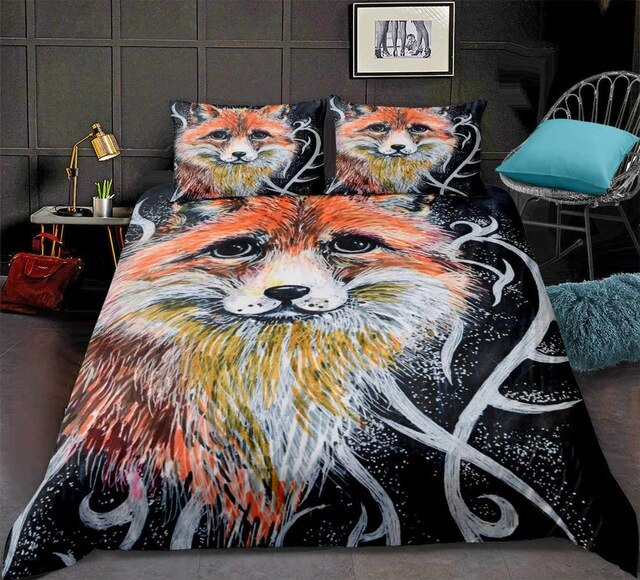 3D Lifelike Fox Pattern Bedding Set - Beddingify