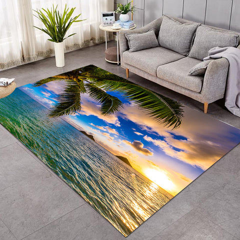 Image of 3D Palm Sunset GWBD15527 Rug