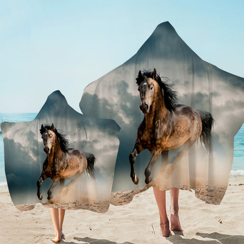 Image of Galloping Horse Hooded Towel