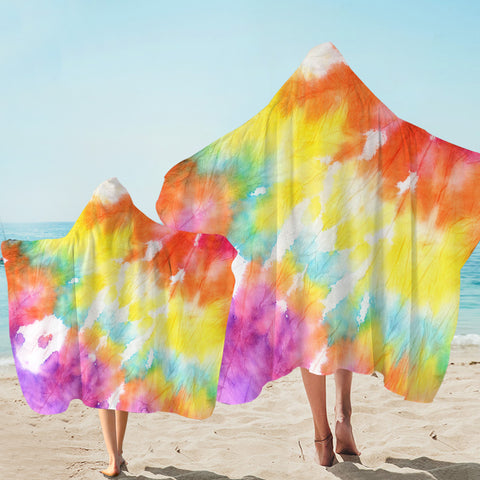 Image of Colored Feathery Hooded Towel