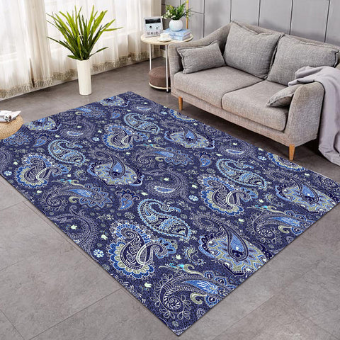 Image of Blue Paisley GWBD16910 Rug