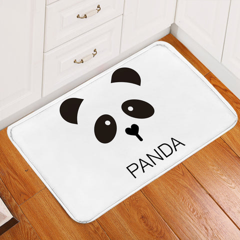 Image of Panda Face Door Mat