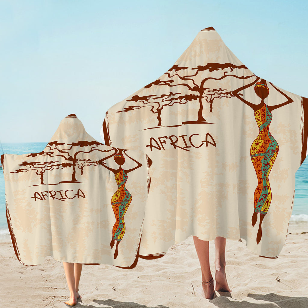 Africa Icons Hooded Towel