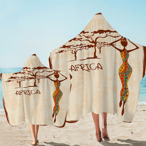 Image of Africa Icons Hooded Towel