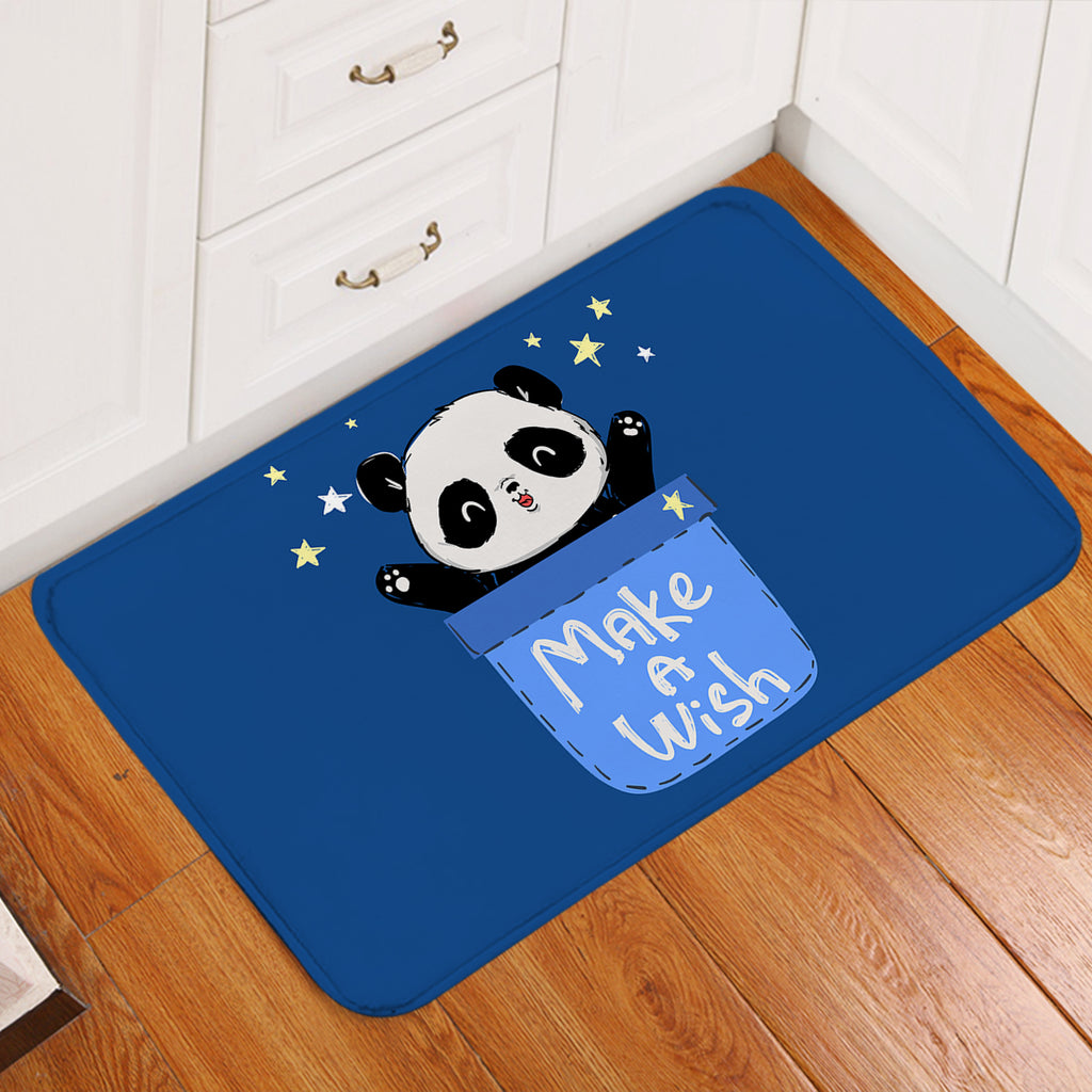 Make A Wish Panda Door Mat