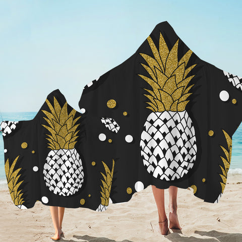Image of Glitter Pineapple Hooded Towel