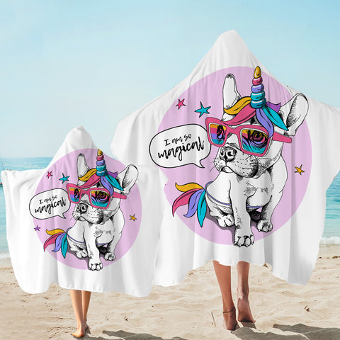 Image of Magical Pug Hooded Towel