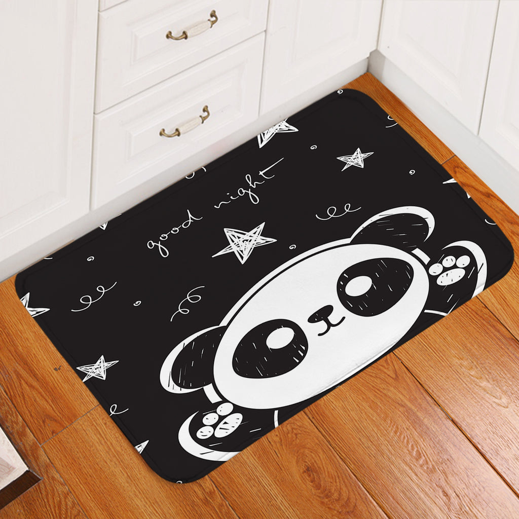 Goodnight Panda Cub Door Mat