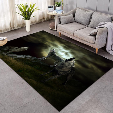 Image of 3D Wolfhowl GWBJ14398 Rug