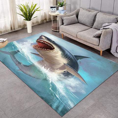 Image of 3D Terror Shark GWBJ14510 Rug