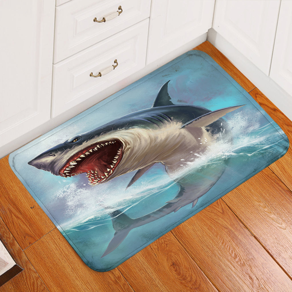 Terror Shark Door Mat