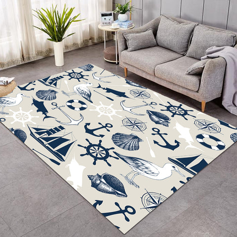 Image of Nautical Icons GWBJ14512 Rug