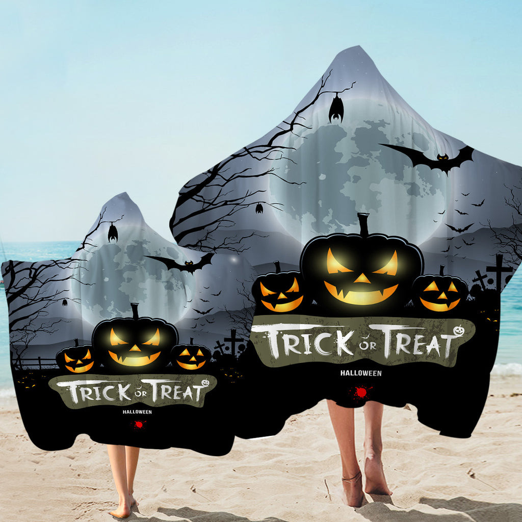 Trick Or Treat Hooded Towel