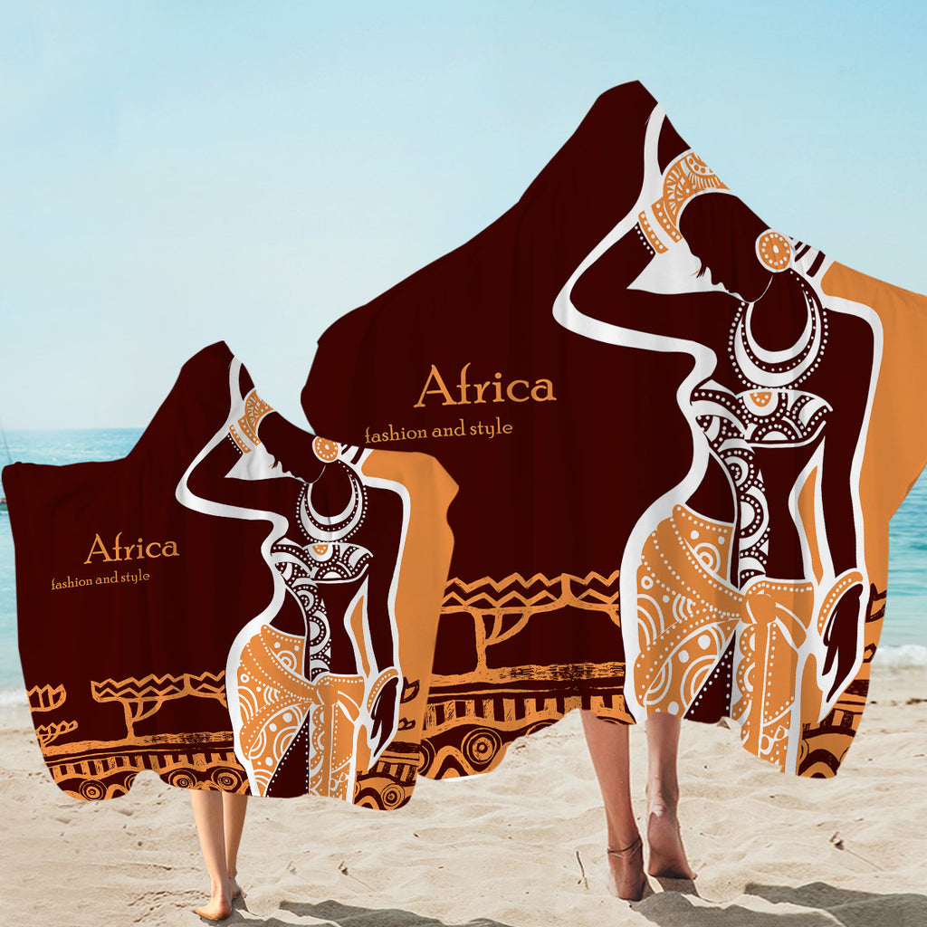 Africa Fashion Hooded Towel