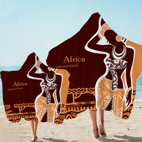 Image of Africa Fashion Hooded Towel