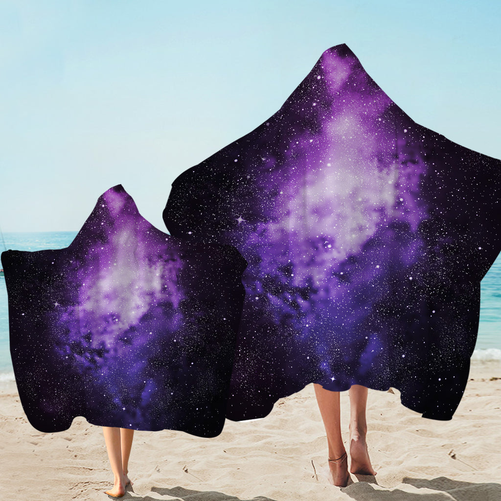 Star Dust Space Hooded Towel