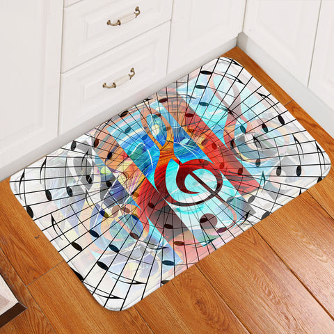 Image of Treble Clef Door Mat
