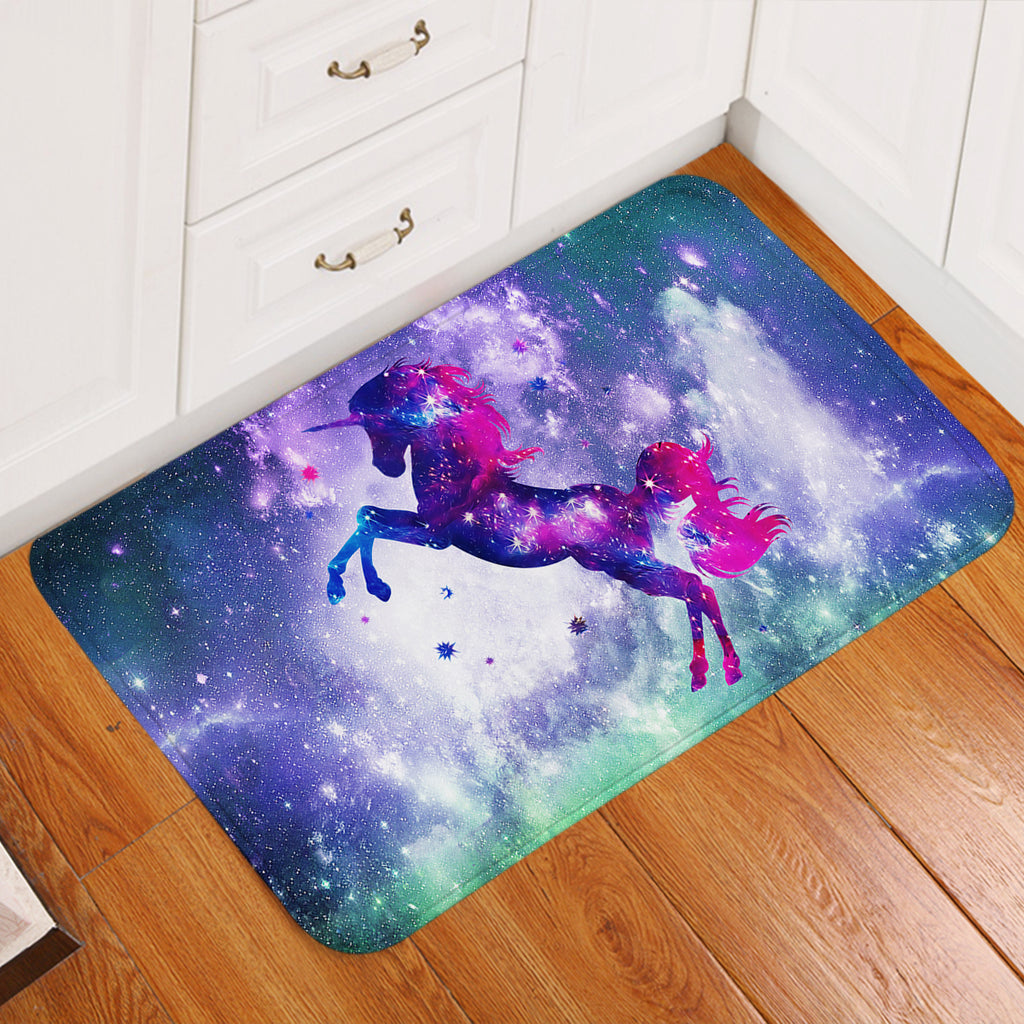 Unicorn Silhouette Magical Door Mat