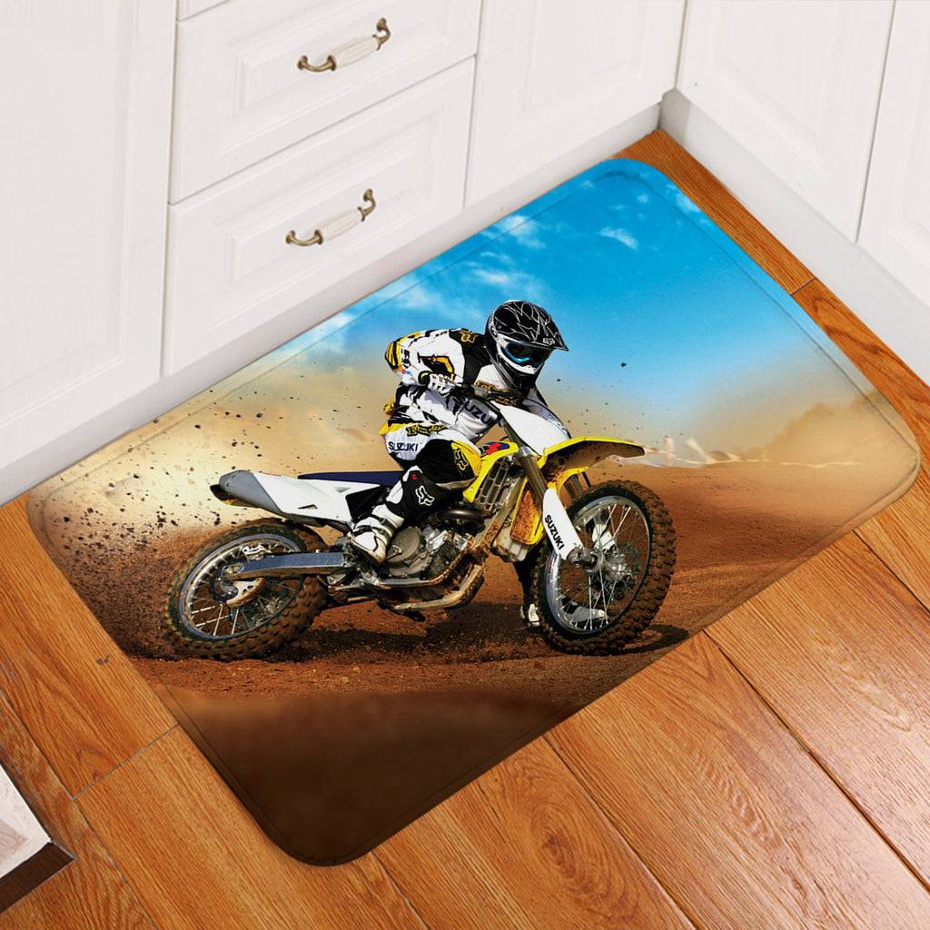 3D Dirt Bike Door Mat