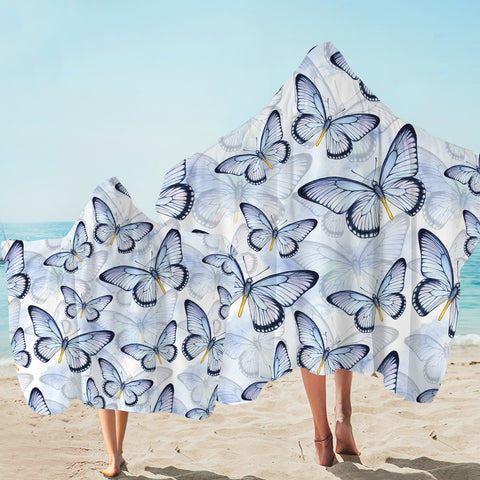 Image of Butterfly Patterns Hooded Towel
