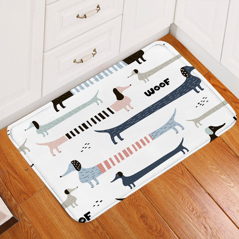 Image of Cool Dachshunds Door Mat