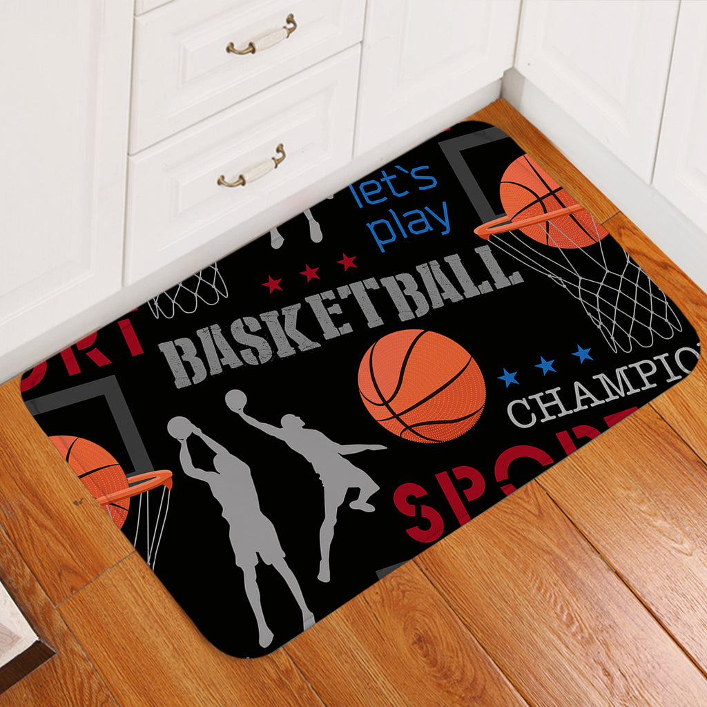 Basketball Championship Door Mat