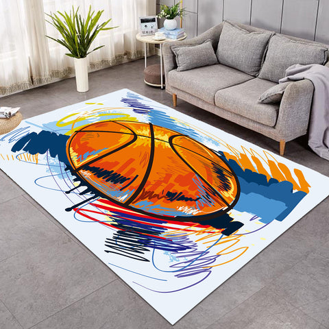 Image of Painted Basket Ball GWBJ15917 Rug