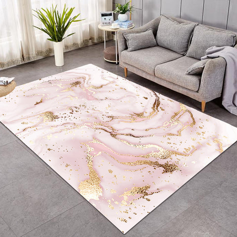 Image of Glittered Pastel Pink GWBJ16111 Rug