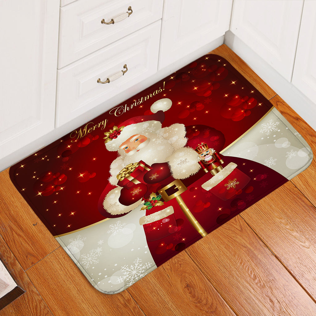 Red Christmas Door Mat