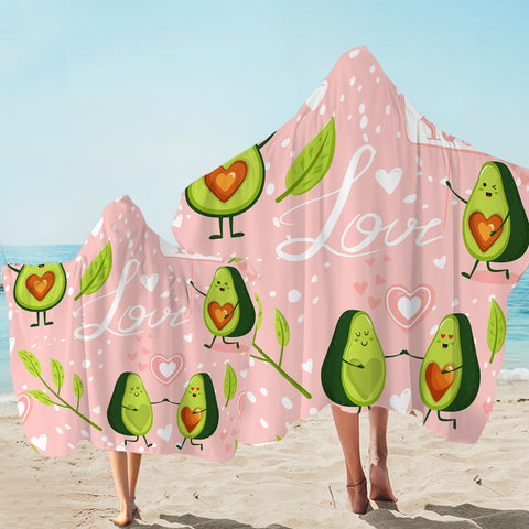 Image of Lovely Avocado Hooded Towel
