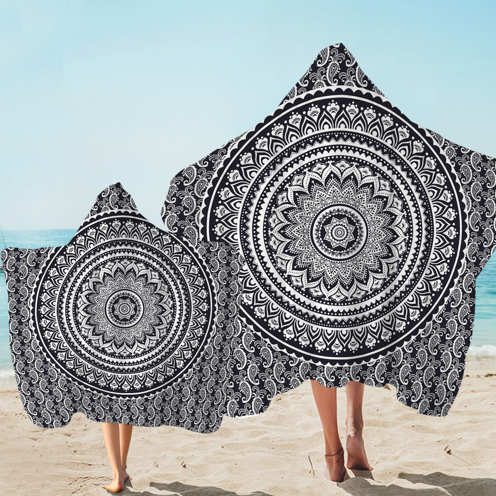 Mandala Wheel Hooded Towel