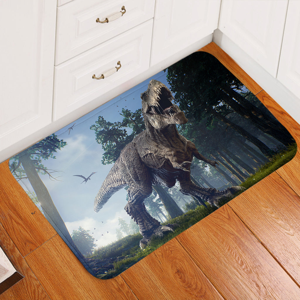 3D Preying T-Rex Door Mat