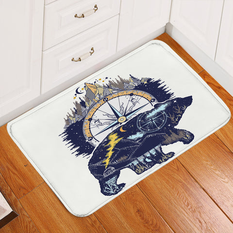 Image of Polar Bear Compass Door Mat