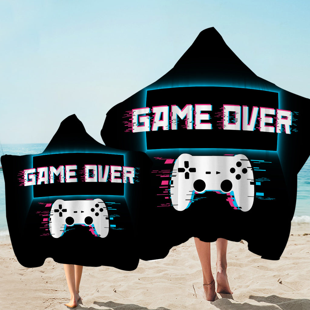 Game Over Console Hooded Towel