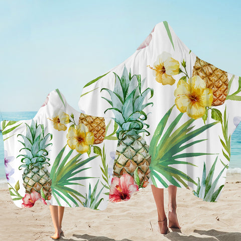 Image of Pineapple Patterns Hooded Towel
