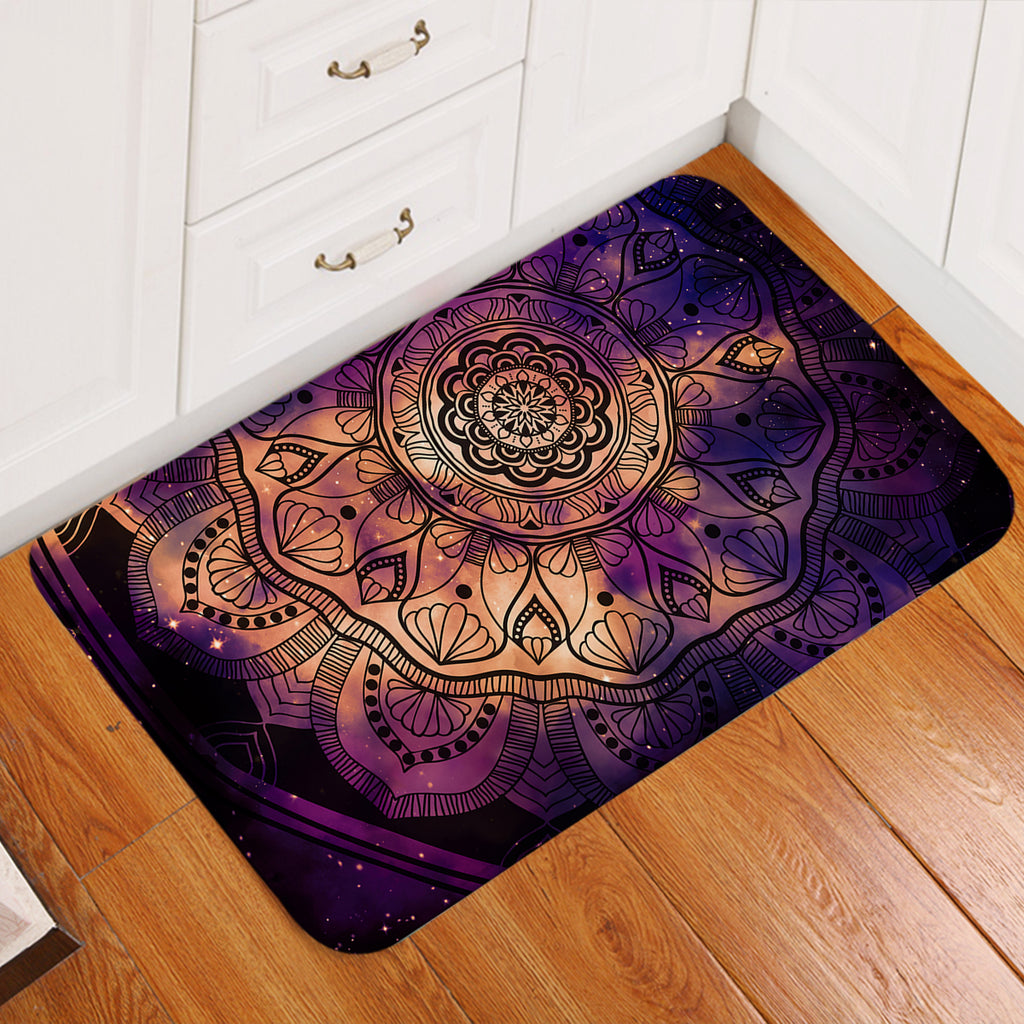 Dark Mandala Door Mat