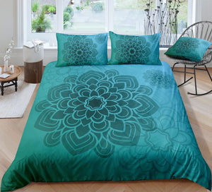 Green Mandala Pattern Bedding Set - Beddingify
