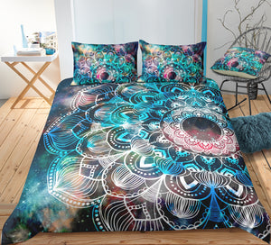 Green Tie Dye Mandala Bedding Set - Beddingify