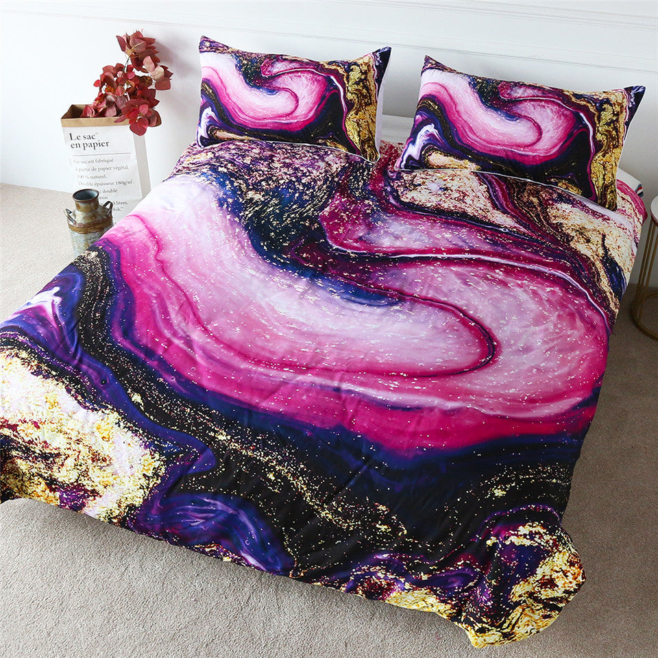 Quicksand Marble Bedding Set - Beddingify