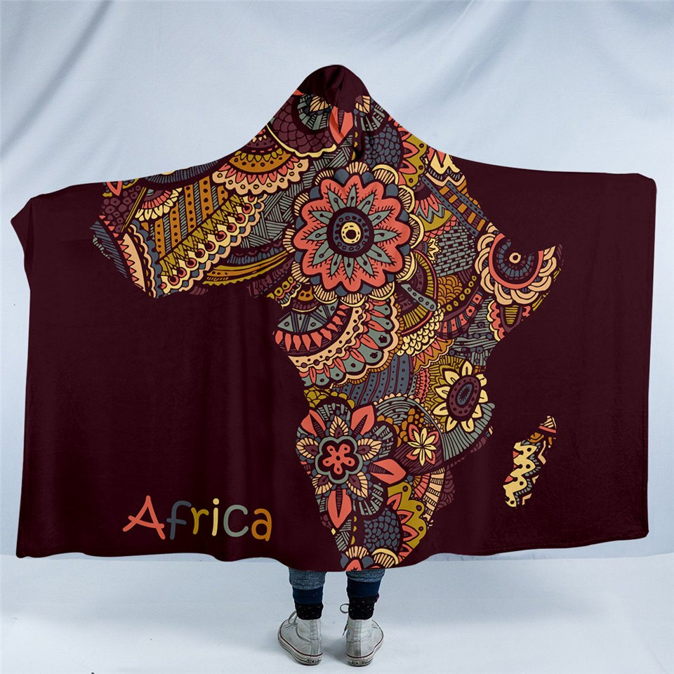 Africa Hooded Blanket