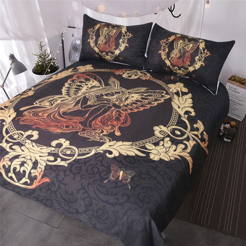 Image of Fairy Butterfly Girl Bedding Set - Beddingify