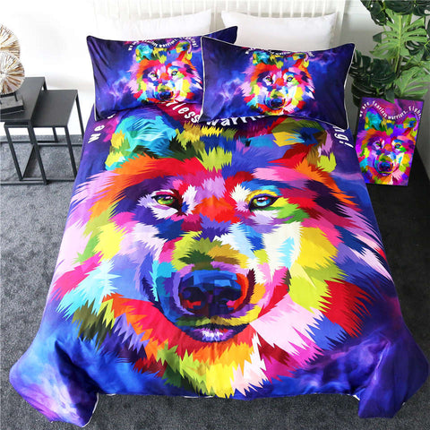 Image of Watercolor Art Wolf Bedding Set - Beddingify