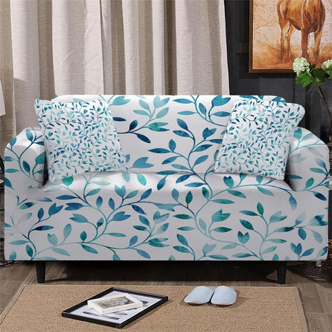 Image of Dreams of Green Sofa Cover - Beddingify